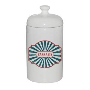 Cannabis Ceramic Jar