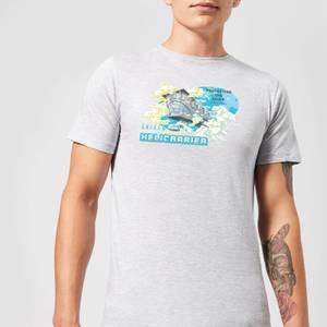 Marvel S.H.I.E.L.D. Helicarrier Mobile HQ Men's T-Shirt - Grey