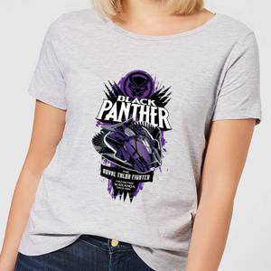 T-Shirt Marvel Black Panther The Royal Talon Fighter Badge - Grigio - Donna