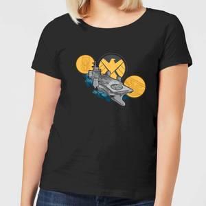 Marvel S.H.I.E.L.D. Helicarrier Women's T-Shirt - Black