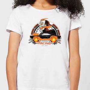 T-Shirt Marvel Ghost Rider Robbie Reyes Racing - Bianco - Donna