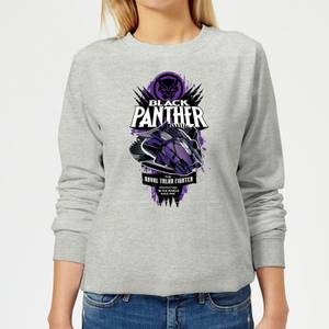 Marvel Black Panther The Royal Talon Fighter Badge Women's Sweatshirt - Grey