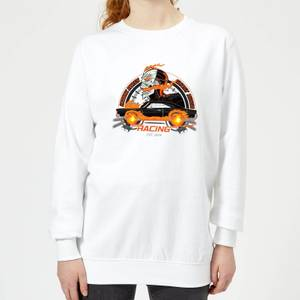 Marvel Ghost Rider Robbie Reyes Racing Women's Sweatshirt - White