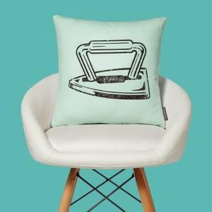 Monopoly Iron Letterpress Square Cushion
