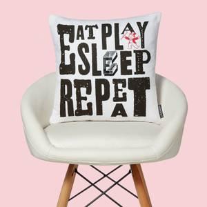 Monopoly Eat Sleep Play Repeat Square Cushion