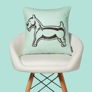 Monopoly Dog Letterpress Square Cushion