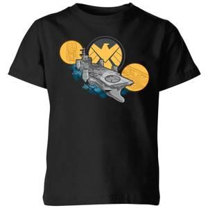 Marvel S.H.I.E.L.D. Helicarrier Kids' T-Shirt - Black
