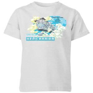 Marvel S.H.I.E.L.D. Helicarrier Mobile HQ Kids' T-Shirt - Grey
