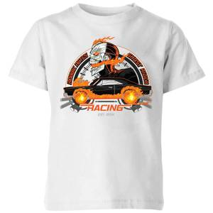 Marvel Ghost Rider Robbie Reyes Racing Kids' T-Shirt - White