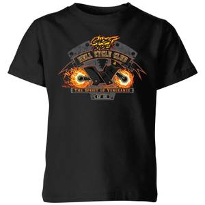 T-Shirt Marvel Ghost Rider Hell Cycle Club - Nero - Bambini