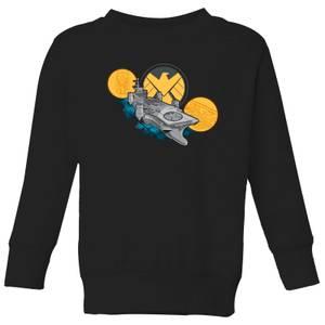 Marvel S.H.I.E.L.D. Helicarrier Kids' Sweatshirt - Black