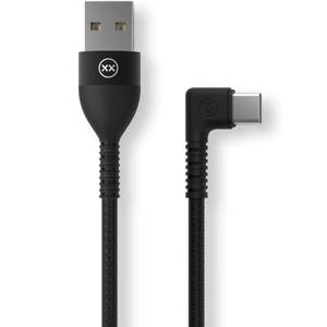 Mixx 1.2 Meter - USB A To Type-C Right Angle - Black