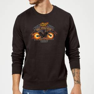 Marvel Ghost Rider Hell Cycle Club Sweatshirt - Black