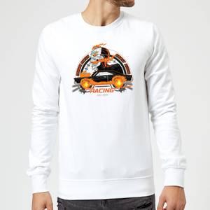 Felpa Marvel Ghost Rider Robbie Reyes Racing - Bianco