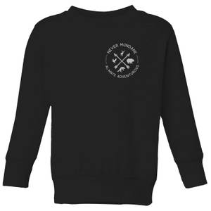 Never Mundane Pocket Print Kids' Sweatshirt - Black