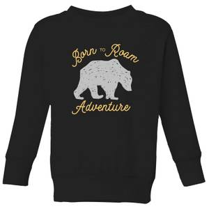 Adventure Born To Roam Kids' Sweatshirt - Black