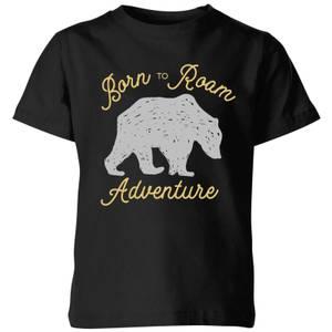 Adventure Born To Roam Kids' T-Shirt - Black
