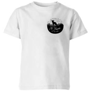 Black To Travel Is To Live Pocket Print Kids' T-Shirt - White