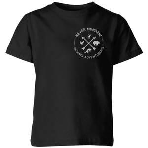 Never Mundane Pocket Print Kids' T-Shirt - Black