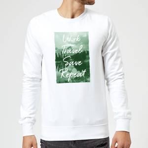 Work Travel Save Repeat Forest Photo Sweatshirt - White