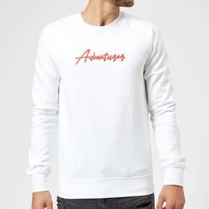 Adventurer Script Sweatshirt - White