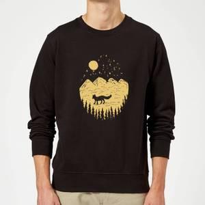 Moonlight Fox Adventure Sweatshirt - Black