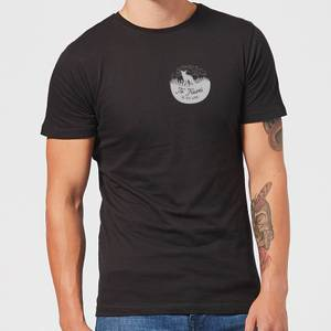 To Travel Is To Live Pocket Print Men's T-Shirt - Black