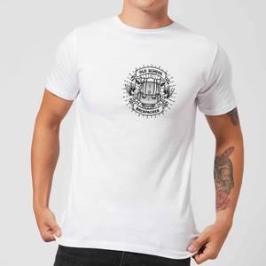 Vintage Old School Backpacker Pocket Print Men's T-Shirt - White