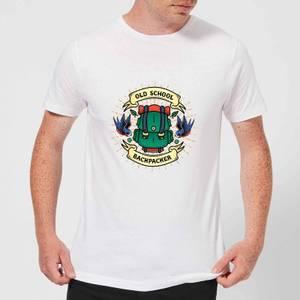 Vintage Old School Backpacker Men's T-Shirt - White