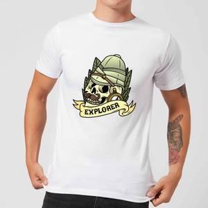 Explorer Skull Men's T-Shirt - White