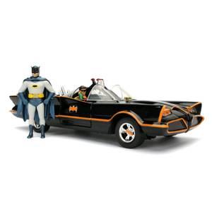 Jada Die Cast 1:24 1966 Batmobile with Diecast Batman and Robin