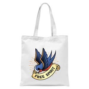 Swallow Free Spirit Tote Bag - White