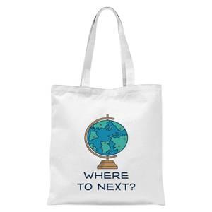 Globe Where To Next? Tote Bag - White