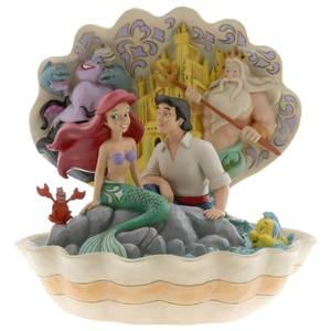 Disney Traditions - Scénario de coquillage (Figurine de scène de coquillage de La Petite Sirène)
