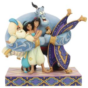 Disney Traditions - Group Hug! (Aladdin Figurine)