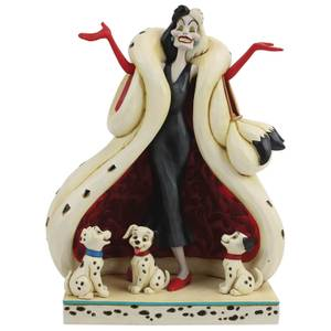 Disney Traditions - The Cute and the Cruel (Cruella and Puppies Figurine)