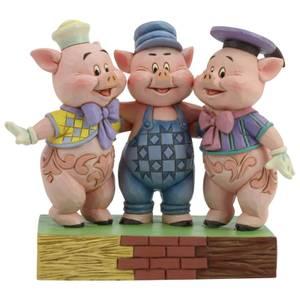 Disney Traditions - Squealing Siblings (Silly Symphony Drei kleine Schweinchen Figur)
