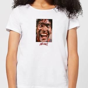 Evil Dead 2 Ash Close-Up Women's T-Shirt - White