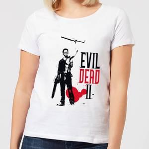 Evil Dead 2 Ash Silhouette Women's T-Shirt - White
