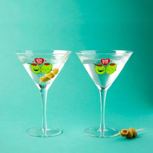 Olive You Martini Glasses Set