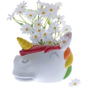Rainbow Unicorn Planter