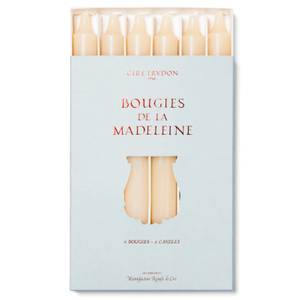 Cire Trudon Bougies De La Madeleine Unscented Dinner Candles - Stone (Set of 6)