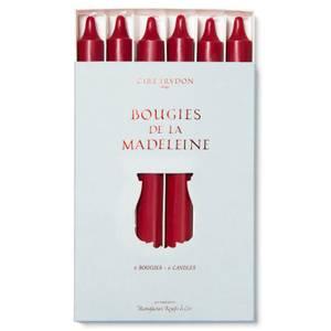 Cire Trudon Bougies De La Madeleine Unscented Dinner Candles - Burgundy (Set of 6)