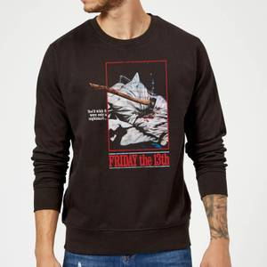 Friday the 13th Axe Attack Retro Poster Sweatshirt - Black
