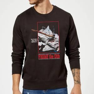 Friday the 13th Axe Attack Retro Poster Sweatshirt - Black