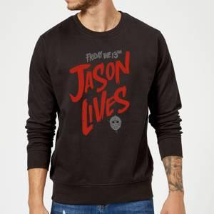 Friday the 13th Jason Lives Sweatshirt - Black