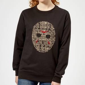 Friday the 13th Mask Women's Sweatshirt - Black