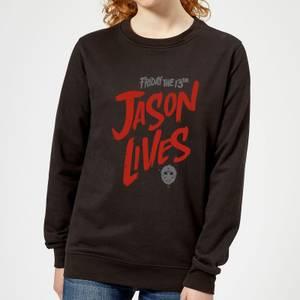 Friday the 13th Jason Lives Women's Sweatshirt - Black