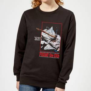 Friday the 13th Axe Attack Retro Poster Women's Sweatshirt - Black