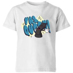 Yas Queen! Cartoon Kids' T-Shirt - White